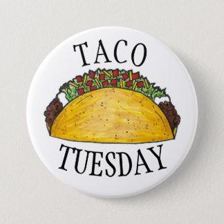 Badges Fin gourmet de tacos de nourriture de Tex Mex de