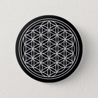 Badges FLEUR DE LA VIE - blanc