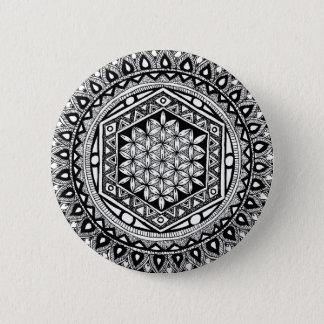Badges Fleur de mandala de la vie