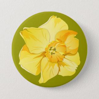 Badges Fleur jaune de ressort de Court-Trompette de