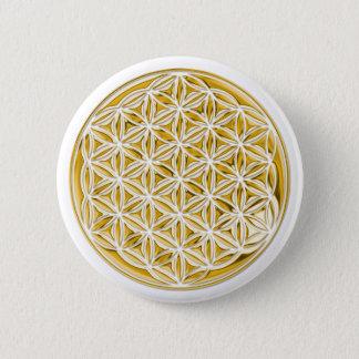 Badges Fleur Live/complètement d'or