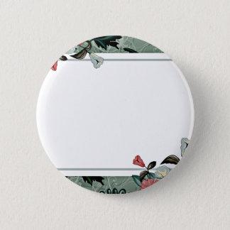 Badges Fleur rose et blanche avec des remous colorés