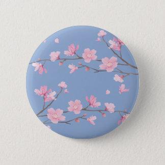 Badges Fleurs de cerisier - bleu de sérénité
