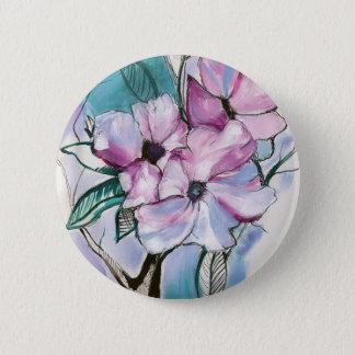 Badges Fleurs encrées
