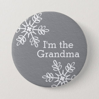 Badges Flocon de neige gris et blanc je suis la