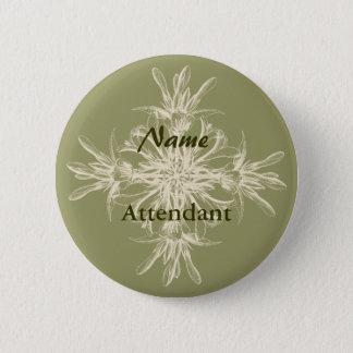 Badges Floral olive antique