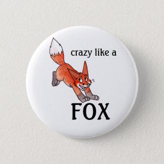 Badges Fou comme un bouton de Fox