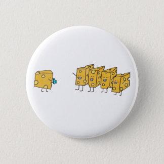 Badges Fromage drôle de sourires indiquant le fromage