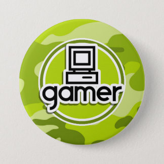Badges Gamer ; camo vert clair, camouflage