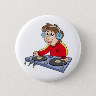 Badges Garçon du DJ de bande dessinée