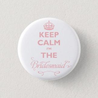 Badges Gardez le calme que je suis l'étiquette mignonne