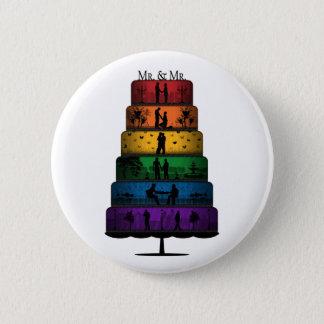 Badges Gâteau de mariage de gay pride