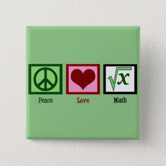 Badges Geek de maths d'amour de paix