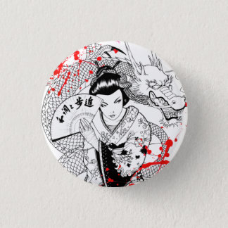 Badges Geisha frais d'éclaboussure de sang avec le