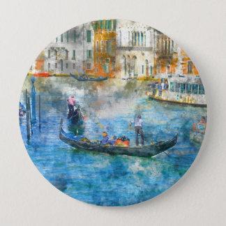 Badges Gondoles dans le canal grand de Venise Italie