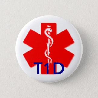 Badges Goupille vigilante médicale de diabète de type un