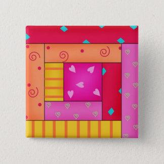Badges Goupilles colorées d'art de bloc de cabine de
