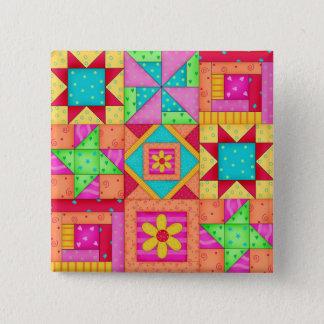Badges Goupilles colorées d'art de bloc de l'édredon de
