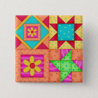 Badges Goupilles colorées de bloc de l'édredon de