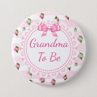 Badges Grand-maman à être roses de rose de bouton de baby