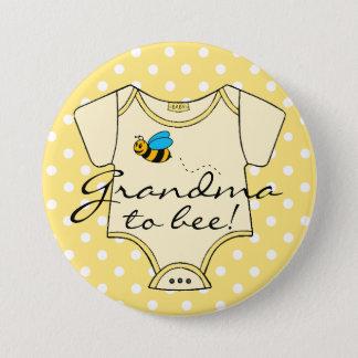 Badges Grand-maman au jaune et au blanc d'abeille