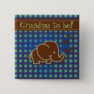 Badges Grand-maman bleu-foncé et de Brown de bébé de