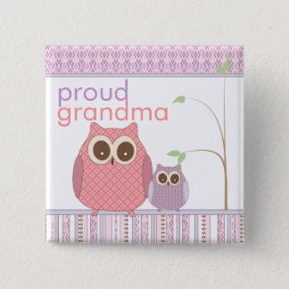 Badges Grand-maman fière à être et hibou de bébé