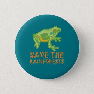 Badges grenouille d'arbre d'économie-le-forêts tropicales
