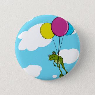 Badges Grenouille flottant avec des ballons