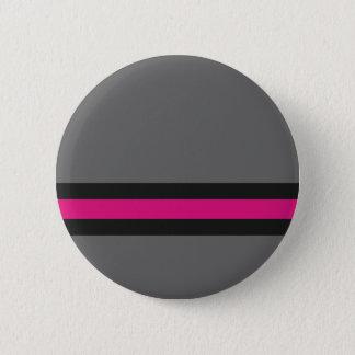 Badges Gris avec les rayures roses et noires