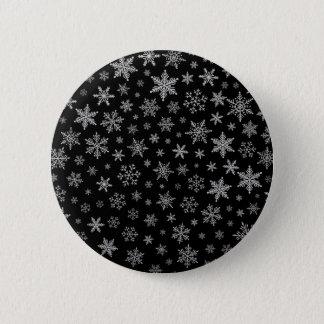 Badges Gris noir et argenté du flocon de neige moderne 2