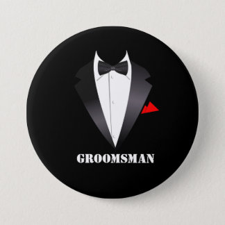 Badges Groomsman avec la chemise de smoking - bouton