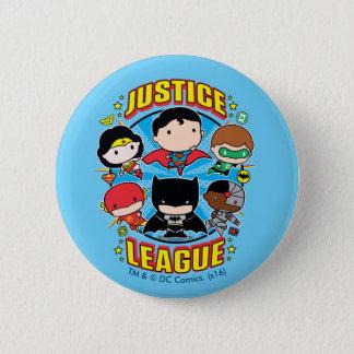 Badges Groupe de ligue de justice de Chibi