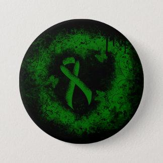 Badges Grunge verte de ruban