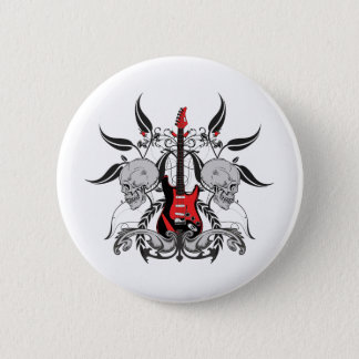 Badges Guitare grunge et crâne