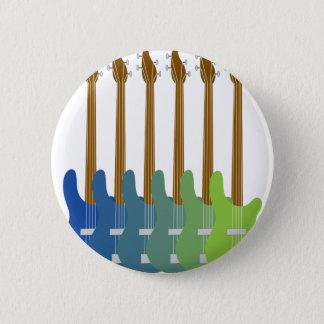 Badges Guitares basses colorées