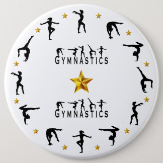 Badges Gymnastique, femelle, étoiles d'or