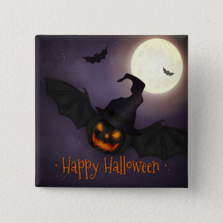 Badges Halloween - batte effrayante de citrouille
