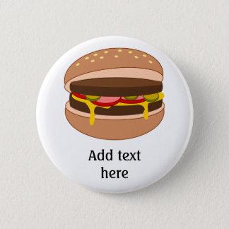 Badges Hamburger dans l'image de petit pain - ajoutez