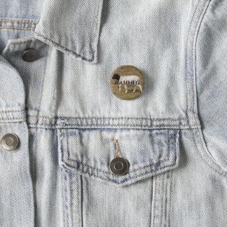 Badges HAMbWG - bouton carré - moutons principaux noirs