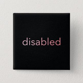 Badges Handicapé - teinté en rose