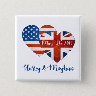 Badges Harry et mariage de Meghan, le 19 mai 2018
