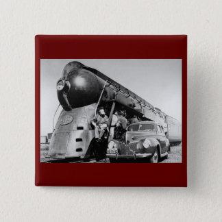 Badges Hé bon chemin de fer vintage de central de Lookin
