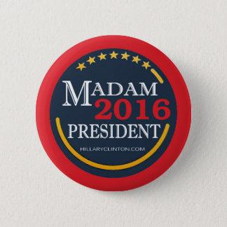 Badges Hillary Clinton, Madame président
