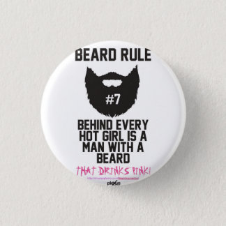 Badges Homme barbu de PLEXUS petit, 1 bouton rond de