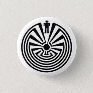 Badges HOMME dans le bouton indigène de Tohono O'odham de