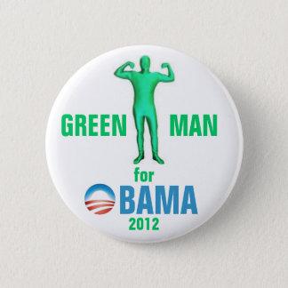 Badges Homme vert pour Obama 2012