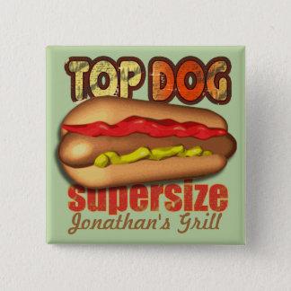 Badges Hot dog de griffe supérieure personnalisé
