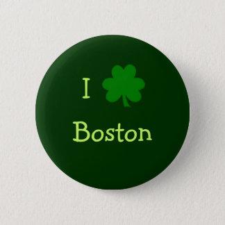 Badges I bouton de Boston de shamrock