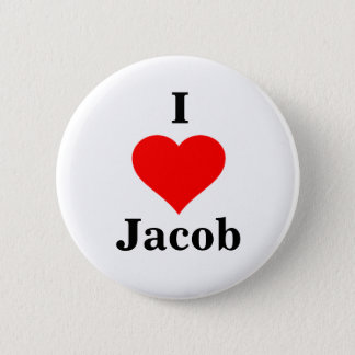 Badges I bouton de Jacob de coeur